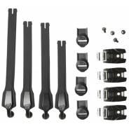 Стрепы к мотоботам с застежками Fox Instinct Strap/Buckle/Pass Kit Black/Black (20365-021-NS)