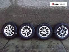 """Колеса 205/70R15, Dunlop, 4шт, лето 70%, 2114, WEDS R15x6,0 ET53 5*114. 6.0x15"""" ET53"""