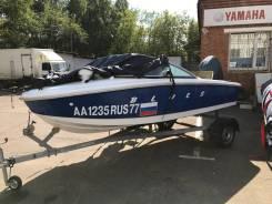 Новый катер Blues с прицепом Laker. 2017 год год, длина 4,30м., двигатель без двигателя, бензин