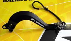 Педаль заднего тормоза Zeta Yamaha Serow250 05-/Tricker 04-/XT250X 06-/XT250 08- Черный ZE90-7350