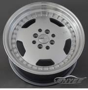 Новые диски HSR R16 4x100-4x114,3 ET38 J8 серебро + полированная полка