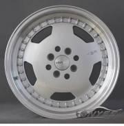 Новые диски HSR R16 4x100-4x114,3 ET42 J7 серебро + полированная полка