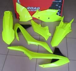 Комплект пластика R-Tech KTM EXC/EXCF 250-500 17-18 желтый неон R-KITKTM-GF0-517
