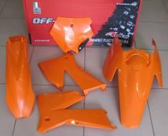 Комплект пластика R-Tech KTM SX-SXF125-525 05-06/EXC-EXCF125-525 05-07 оранжевый R-KITKTM-AR0-504