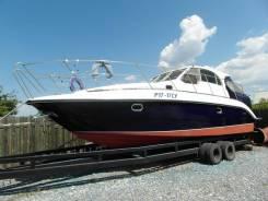Глиссирующая моторная яхта с днищем из нержавейки, срочно цена снижена