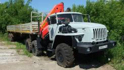 Урал 2012г с кму PK-15500А и полуприцеп 12 метров