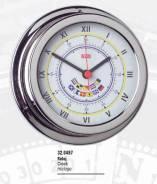 Часы с флагами (полиров. и хромир. латунь) 150х120