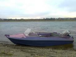 Моторная лодка Крым под рыбалку на Ангаре