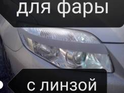 Защита фар прозрачная. Toyota Corolla Fielder, NZE141, NZE141G, NZE144G, ZRE142G, ZRE144G. Под заказ