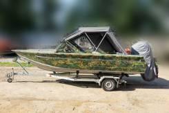 Лодка алюминиевая king fisher 580+ мотор Mercury F150 PRO