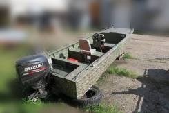 Алюминиевая водометная лодка + мотор Suzuki 60