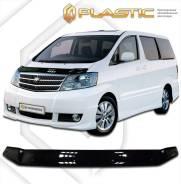 Дефлектор капота Toyota Alphard 03-09 черный качество