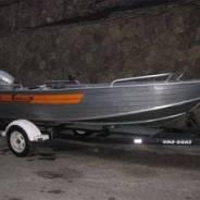Продам комплект. Лодка Вельбот42 Мотор Хонда20 Прицеп Цена320000