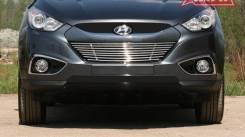 Накладка на решетку бампера. Hyundai ix35, LM Двигатели: D4HA, G4KD, G4NA