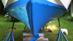 Очистка днища катера и яхты, покраска необрастайкой!
