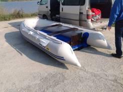 """Лодка надувная """"Солар-380 Jet Tunnel"""" светло-серый"""