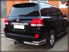 Защита заднего бампера двойная угловая Toyota Land Cruiser 200