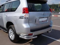 Защита заднего бампера двойная угловая Toyota Land Cruiser Pado 150