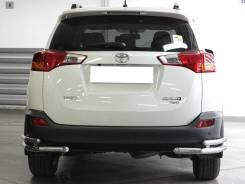 Защита заднего бампера двойная угловая Toyota RAV 4