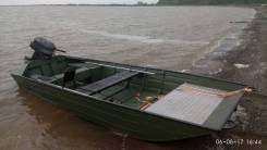 Лодка плоскодонка под мотор Джонбот из алюминия