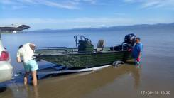 Алюминиевая лодка под мотор джонбот плоскодонка. Для отдыха, рыбалки