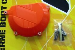 Защита крышки сцепления KTM 450SXF/XCF 13-15, 450/500EXC/XCW 12-16 оранжевая