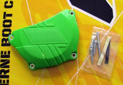 Защита крышки сцепления Kawasaki KX250F 2017 зеленая
