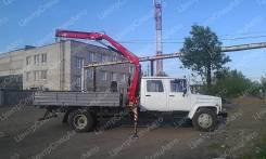 """ГАЗ 3309. Кран-манипулятор ГАЗ-3309 """"ГАЗон"""" Егерь с гидравлической КМУ Fassi F85, 4 430куб. см., 4x2"""
