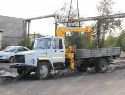 """ГАЗ 3309. Кран-манипулятор ГАЗ-33098 """"ГАЗон"""" с тросовой КМУ Soosan SCS 333, 4х2, 4 430куб. см., 4x2"""