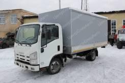 Isuzu Elf. Европлатформа на шасси Isuzu NMR85Н, 4х2 (автомобиль бортовой, тент), 2 999куб. см., 3 100кг., 4x2