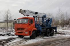 КамАЗ 65115. Автовышка Камаз–65115, телескопическая с гуськом, 32 м. (ВИПО-32-01), 6 700куб. см., 32,00м.