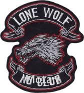 Термонашивка Одинокий волк, нет клубам
