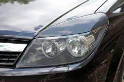 Накладки на передние фары (реснички) Opel Astra 2007-2009 Опель Астра