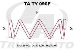 Комплект Усиленных +2см Пружин Передние Toyota Cami, Terios J102/J122