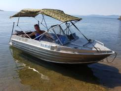 Лодка алюминиевая, моторная 4.4 метра 2018г.