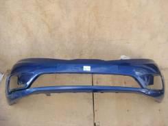 Kia Rio бампер передний 865114y000 12-14 год синий