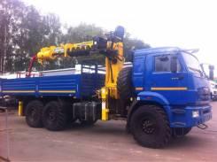 КМУ КАМАЗ 43118-3027-50+SOOSAN SCS866 в.у.+бур 400мм.+борт ст.6.2м., 2018