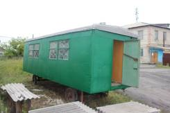 Вагон на шасси, Бытовка, Мобильное здание, 2010. Вагон жилой на шасси, бытовка, прицеп, 1 000куб. см.