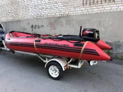 Продам лодку ПВХ Quicksilver 430 Heavy-Duty с прицепом во Владивостоке