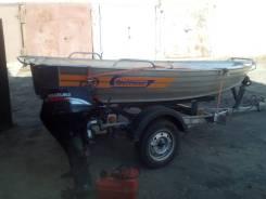 Алюминиевая лодка Wellboat-36.