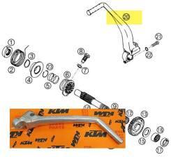 Лапка кик стартера с крепежом KTM 400 540 640 LC 4 оригинал