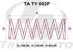 Комплект Усиленных +2см Пружин Toyota Ipsum/Gaia/Nadia CXM10/SXM15/SXN