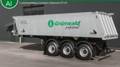 Самосвальный полуприцеп Grunwald 27 м куб, алюминиевый, 2018