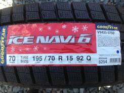 Goodyear Ice Navi 6. Зимние, без шипов, 2018 год, без износа, 4 шт
