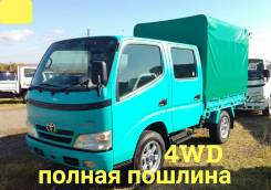 Toyota ToyoAce. 4WD, двухкабинник + тент, 3 000 куб. см., 1 500 кг., 4x4