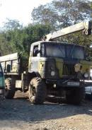 Самосвал с краном вездеход на базе ГАЗ 66