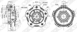 Ступичный Узел Перед Suzuki Grand Vitara/Escudo (Abs) 01- Sat арт. ST-43401-65D10