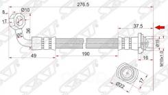 Шланг Тормозной Задний (Таиланд) Toyota 4runner/Fj Cruiser/Hilux Surf/Land Cruiser Prado/Lexus Gx470 Sat арт. ST-90947-02D32