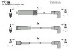 Провода В/В Tesla T736b /Np1332/ Daewoo Nexia 5проводов (Силикон) Tesla арт. T736B