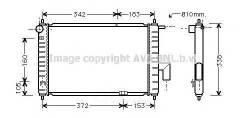 Радиатор системы охлаждения daewoo: matiz (klya) 0.8 98 - Ava арт. DWA2046